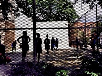 High School Girls Basketball Tournament in Harlem.