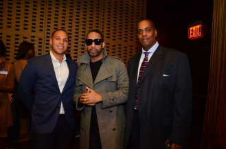 Ryan Leslie, Record Producer (center), Clayton Banks, Silicon Harlem (right)